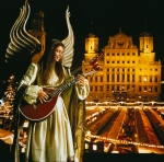 Augsburg, Lech - Angel at Christmas Market in front of Town Hall