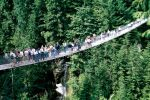 People walking on Capilano Suspension Bridge in North Vancouver.
