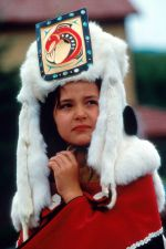 First Nations woman in traditional regalia
